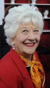 Charlotte Rae from Diff\'rent Strokes! I thought she was dead! She\'s in Sandler\'s new movie. How cool.