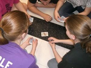 Strange ritual involving slapping the floor.