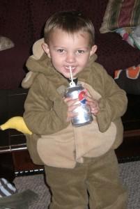Monkeys like bananas *and* Diet Pepsi.