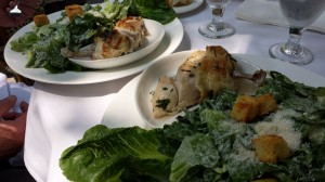 After walking the park, we had lunch at the restaurant, located next to the NY Public Library. We enjoyed our Caesar salads while sitting outside in the perfect, 78-degree sunny day.