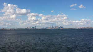 The clouds blew away, and it was a gorgeous late afternoon on the Hudson.