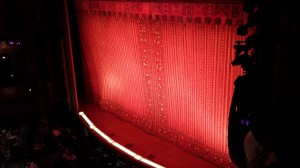 The view from our box at the New Amsterdam, one of the oldest Broadway theaters.